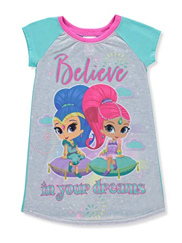 Shimmer and Shine Big Girls' Nightgown - Mint Multi, 8