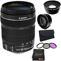 Canon EF 18-135mm f/3.5-5.6 IS STM Standard Zoom Lens Bundle 3 (International Model No Warranty)