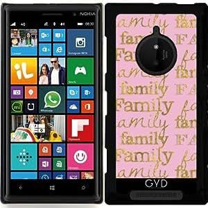 Funda para Nokia Lumia 830 - La Hoja De Oro Familiar En Rosa by UtArt