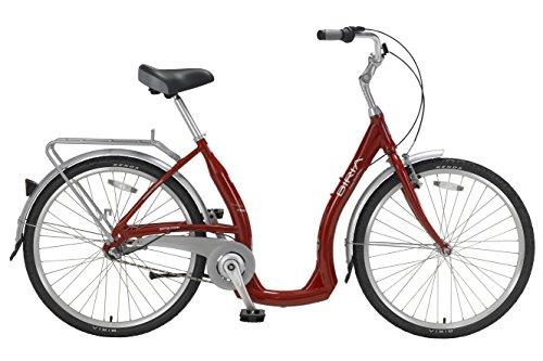 Biria Step Through 3-speed Shimano Nexus internal Hub, Aluminum, RED , 15 Inch frame size Cruiser comfort German design Bicycle
