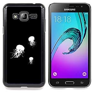 SKCASE Center / Funda Carcasa protectora - Jelly Fish B & W;;;;;;;; - Samsung Galaxy J3 GSM-J300