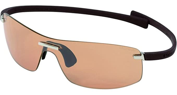 3178465933 Image Unavailable. Image not available for. Colour  Tag Heuer Rimless  Curve-Zenith 5101 Rimless Sunglasses 804 Plum Golf-Photo New