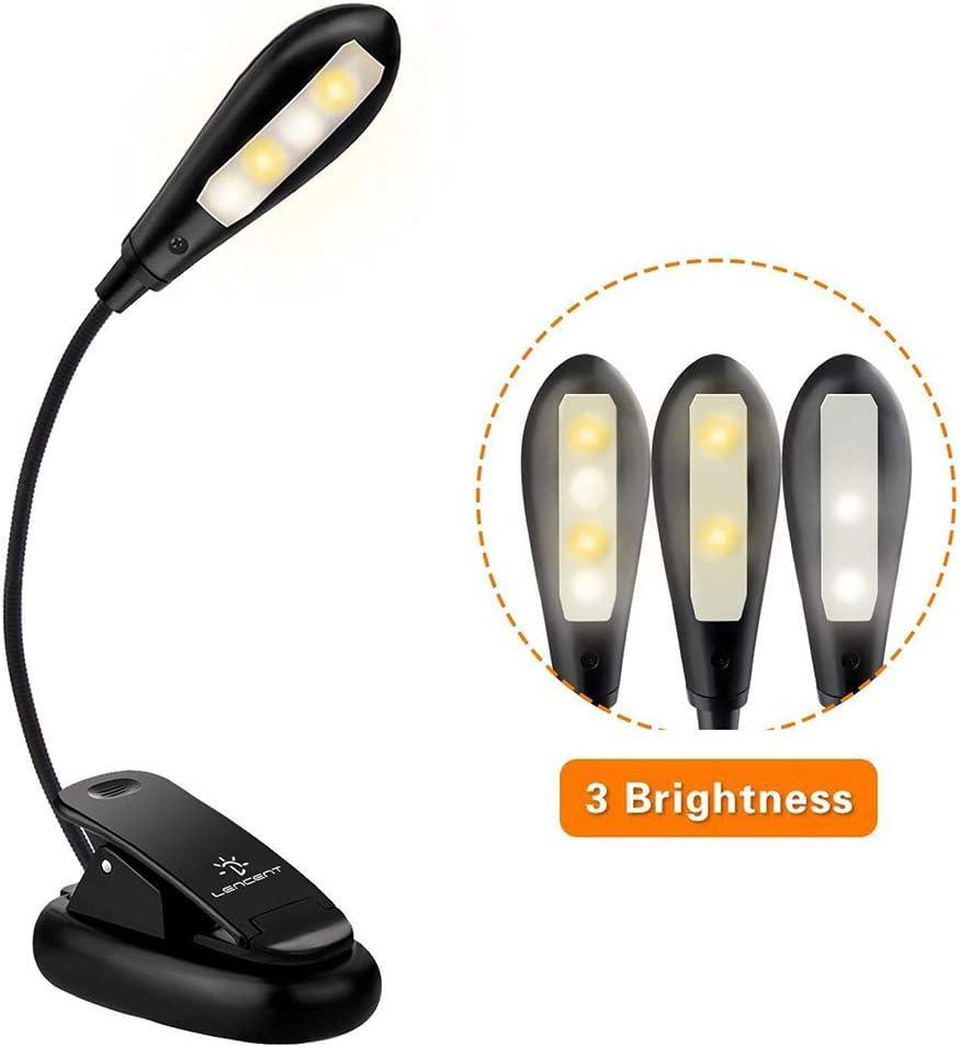 book lights amazon co uklencent usb rechargeable 4 led book light, 3 modes (warm \u0026 white leds)