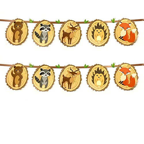 Woodland Creatures of the Forrest Banner Set (Baby Shower Decorations Animals)