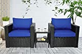 Outdoor PE Wicker Rattan Sofa-Patio Garden Sectional Conversation Cushioned Seat Furniture Set