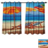 Best Disney Travel Beach Chairs - PriceTextile Seaside Blackout Curtains Panels for Bedroom Deck Review