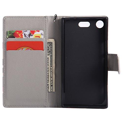 Etui Sony Xperia Aimant XZ1 LOKTU21110 Fermeture de avec Porte en Compact Sony Xperia XZ1 par Cuir Portefeuille Coque Choc Anti Compact Carte Housse 3 pour Lomogo Protection Rabat 3 gqA5UwZ5
