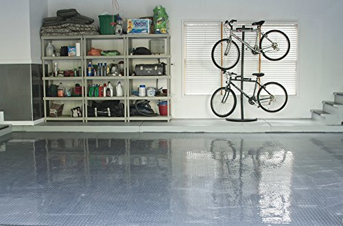 Resilia - Silver Garage Floor Runner/Protector - Embossed Diamond Plate Pattern, 48 inches Wide (4' x 10') by Resilia (Image #3)