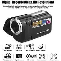 vobome Mini cámara de Video Digital con Pantalla LCD rotativa portátil Cámaras Digitales