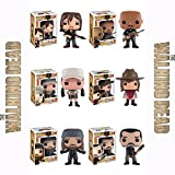 The Walking Dead Daryl with Rocket, Gabriel, Rosita, Carl, Jesus, Negan Pop! Vinyl Figures Set of 6