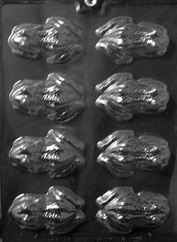 Cybrtrayd Life of the Party A126 Frog Chocolate Candy Mold in Sealed Protective Poly Bag Imprinted with Copyrighted Cybrtrayd Molding (Harry Potter Chocolate Frog)