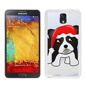 2014 Latest Christmas Dog White Samsung Galaxy Note 3 Case 25