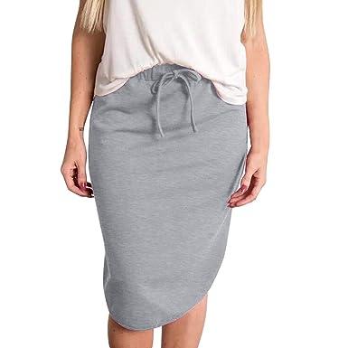 Falda de Rayas de Cintura Alta Sexy para Mujer Falda Corta de ...
