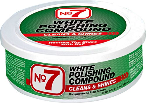 No7 White Polishing Compound, 10 fl oz (Best Car Wax For White Paint)