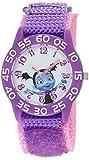 Disney Girl's 'Vampirina' Quartz Plastic and Nylon Casual Watch, Color:Purple (Model: WDS000413)