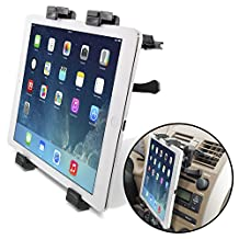 """[Lifetime Warranty] Okra® Universal Tablet Air Vent Car Mount Holder with 360° Rotating swivel compatible w/ Apple iPad, Samsung Galaxy Tab, and all Tablet Devices 7"""" to 11"""" (Retail Packaging)"""
