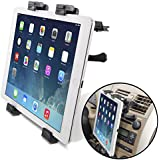 """Okra Universal Tablet Air Vent Car Mount Holder with 360 Rotating swivel compatible w/ Apple iPad, Samsung Galaxy Tab, and all Tablet Devices 5"""" to 11"""" (Retail Packaging)"""