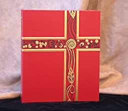 Ceremonial Binder - Red with Gold Foil (1-inch Spine)