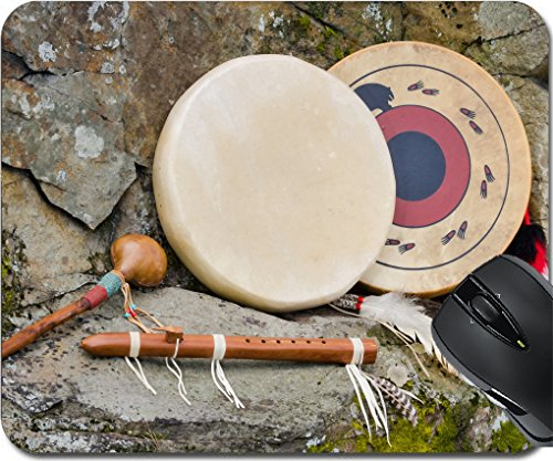 - MSD Mousepad Mouse Pads/Mat design 30415935 Native American Drums Flute and Shaker