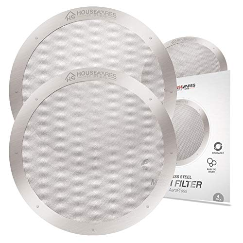 2-Pack Reusable Stainless Steel Filters for AeroPress Coffee Makers by Housewares Solutions (2)