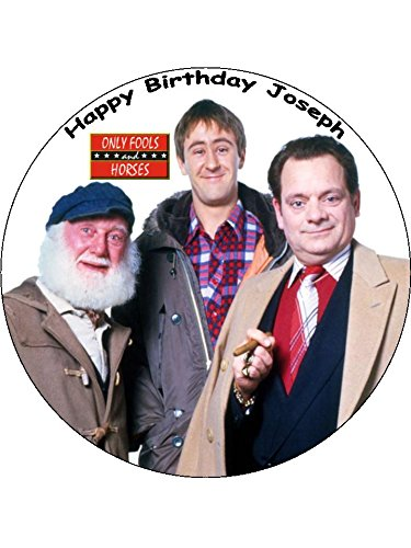 """pre cut icing Only Fools /& Horses Cake  topper 7.5/""""  round"""