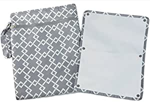 """Sarah Wells """"Pumparoo"""" for Breast Pump Parts, Wet Dry Bag with Staging Mat (Gray)"""