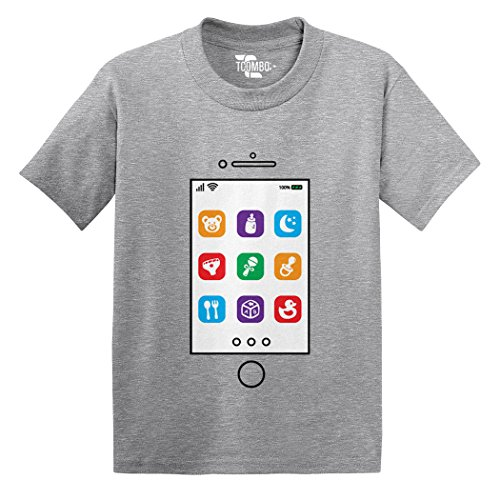 Phone Screen Toddler/Infant T-Shirt (Light Gray, 6 Months) Duckie Rattle