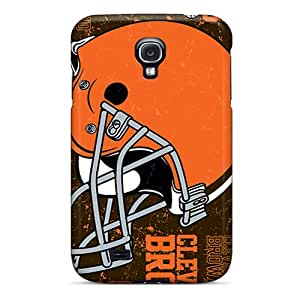 TimeaJoyce Samsung Galaxy S4 Shock Absorption Hard Phone Case Provide Private Custom High-definition Cleveland Browns Image [cli19792bOyD]