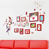 Photo Wall, 9 Frame Combination Frame Frame Wall, Living Room Bedroom Creative Photo Wall ( Color : 1# )