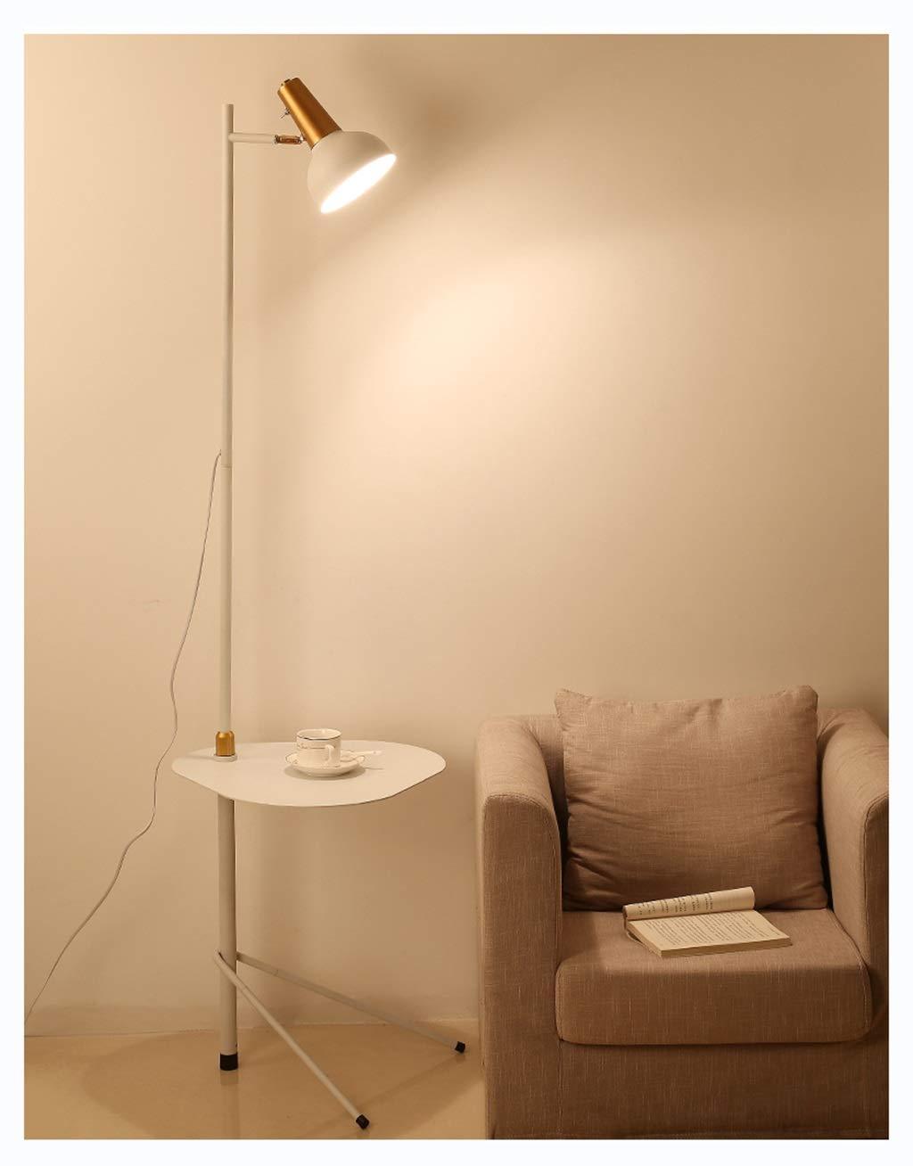 THOR-YAN ポストモダンミニマルクリエイティブフロアランプ、ベッドルームリビングルームスタンダードランプリーディングスタジオストレージ調光LED -8756フロアスタンドランプ (色 : 黄) B07Q5WWSTZ 白  白