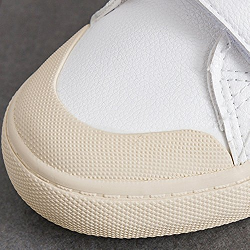 White White Flat mujer de Shoes Blanco Nan Zapatos Summer PU Comfortable Heel wFqpxfY41Y