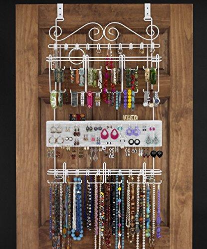 Longstem Organizers Over Door Wall Jewelry Organizer