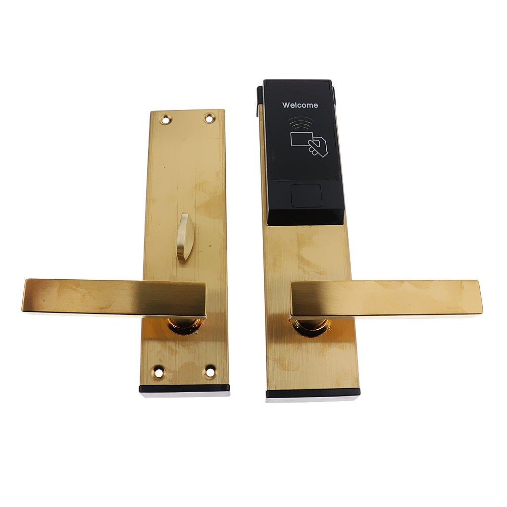 Dovewill スマート ドアロック キーレス アクセス RFID カード ドアロック 家庭 ホテル ホーム セキュリティ 全2色 ゴールデン B078TG9B31  ゴールデン