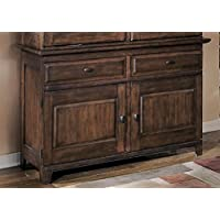Signature Design by Ashley D442-80 Larchmont Collection Dining Room Buffet, Burnished Dark Brown