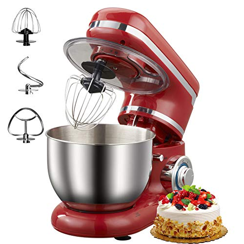 Stand Mixer 3-in-1 Tilt-Head Kitchen Mixers with Attachments, 1200W 4.3 QT Large Capacity, 6 Variable Speed Electric…