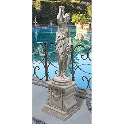 Design Toscano KY799519 Dione The Divine Water Goddess Greek Garden Statue, Grande, Antique Stone