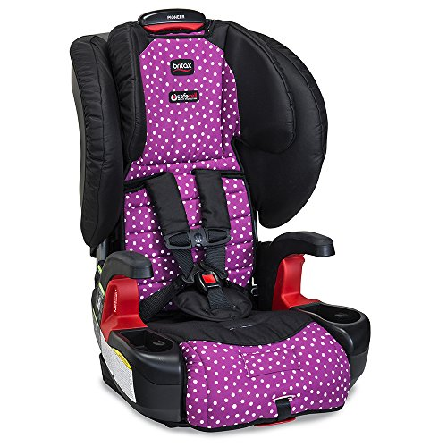 Britax Pioneer Combination Harness-2-Booster Car Seat -2 Layer Impact Protection – 25 to 110 pounds, Confetti