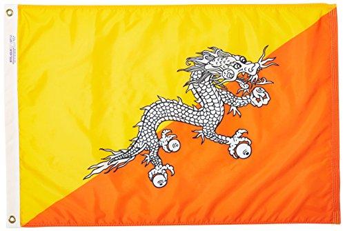Annin & Co. 190640 Nylon SolarGuard Nyl-Glo Bhutan Flag, ...