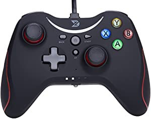 ZD T Gaming Wired Gamepad Controller Joystick for PC(Windows XP/7/8/8.1/10) / Playstation 3 / Android/Steam - Not Support The Xbox 360/One (T-Wired)