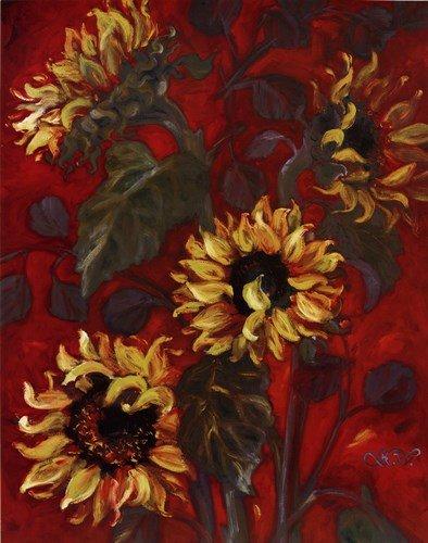 (Sunflowers I by Shari White - 22x28 Inches - Art Print Poster )