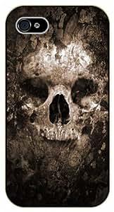 iPhone 4 / 4s Vintage color faded skull - black plastic case / hipster, tribal