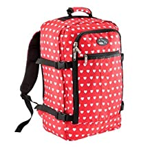 """Cabin Max Metz Backpack Flight Approved Carry on Bag Travel Hand Luggage- 22x16x8"""" (Hearts)"""