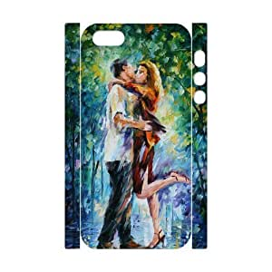 3D Bumper Plastic Customized Case Of The Kiss for iPhone 5,5S