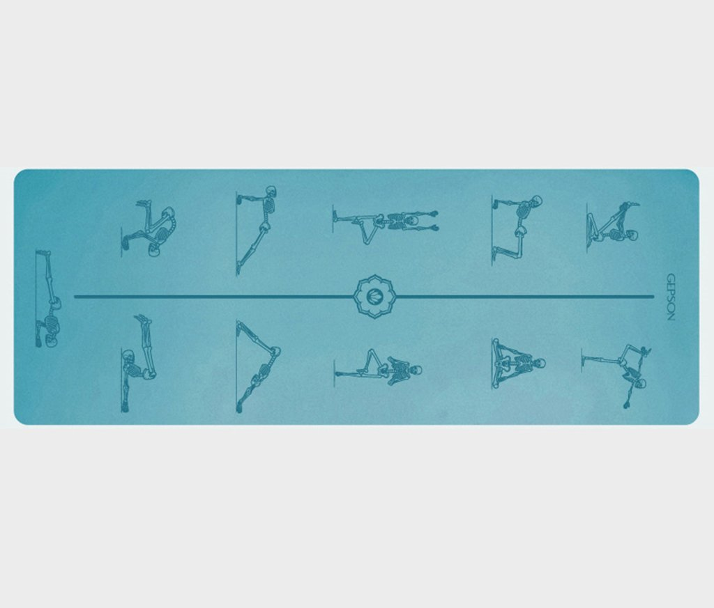 HCJYJD Yoga Matten, Naturkautschuk Männer und Frauen Fitness Matte Beruf Widen Anti-Rutsch-Fitness-Matte (Farbe :  4, größe : 5mm)