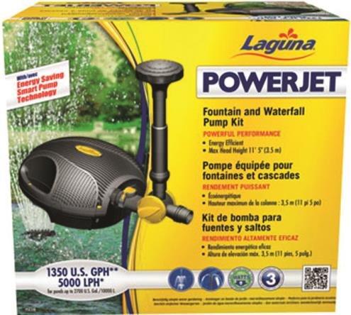 LAGUNA POWERJET 1350 FOUNTAIN/WATERFALL PUMP KIT - 1350 GPH by DavesPestDefense