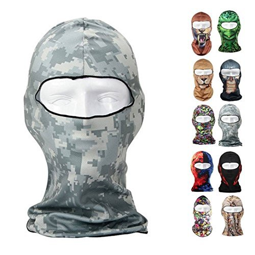 CAMTOA Motorcycle Face Mask Breathable Anti UV Face Mask Headgear Hats Lycra Balaclava Full Face Mask Neck Hood Animal Styles for Outdoor Motorcycle Bike Cycling Sports Skiing Fishing Climbing 16