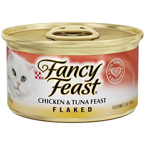 Purina Fancy Feast Flaked Gourmet Wet Cat Food – (24) 3 oz. Cans