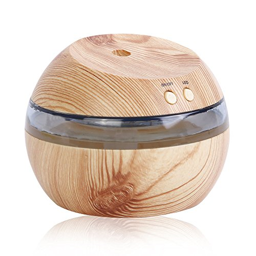 LDFN 290ml Wooden Aroma Humidifier USB Energy-saving Portable Home Mute Large Volume Air Humidifier,LightWoodColor by Aromatherapy air humidifier
