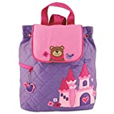 Stephen Joseph Girl Little Quilted Backpack, Princess/Bear