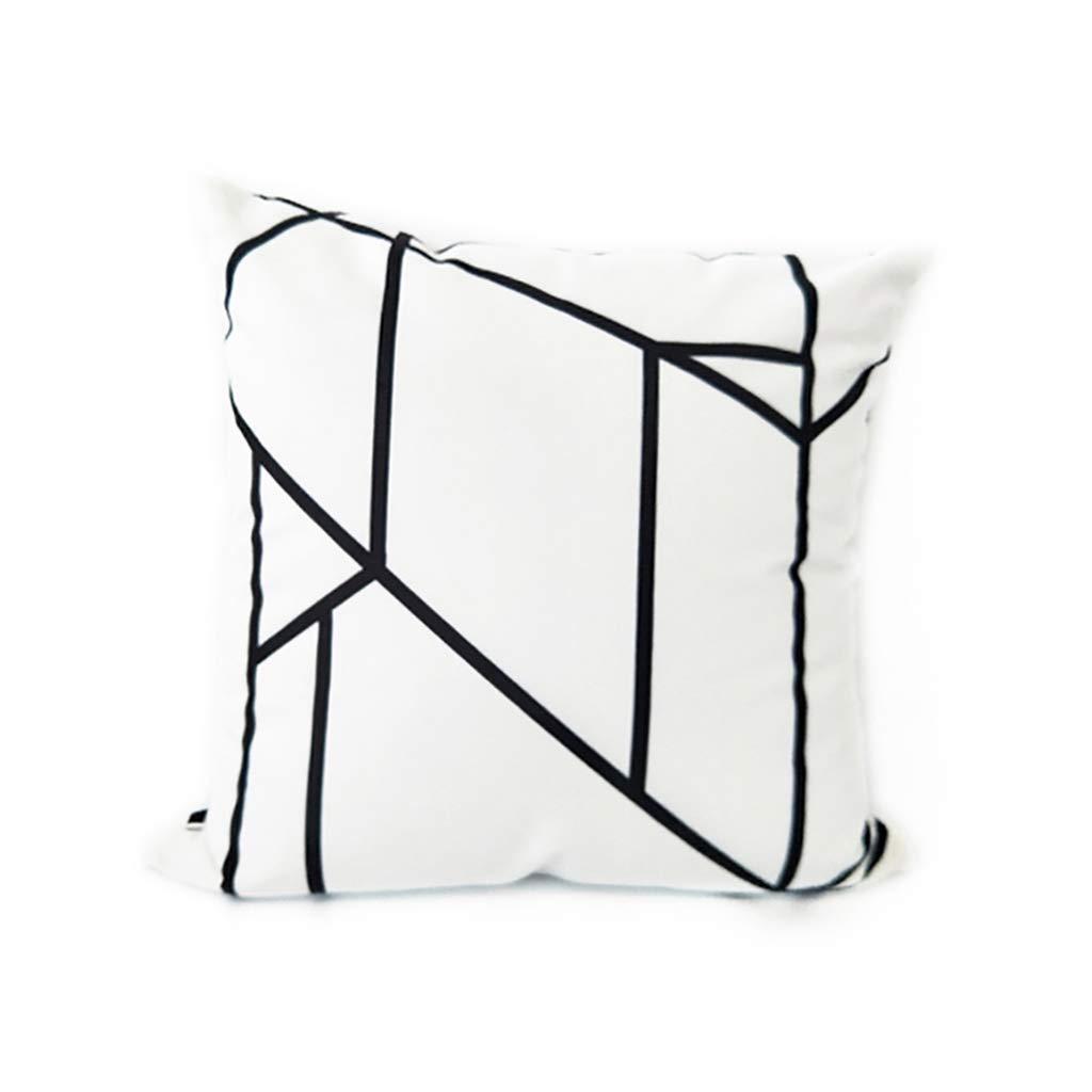 Throw Pillows Pillow Pillow White Pillow Cushion Square Pillow Nordic Industrial Wind Black and White Geometric Sofa Pillow Pink Pillow Square Pillow Simple Modern Pillow